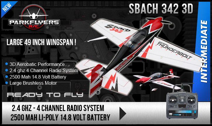 Sbach 342 3D Aerobatic 500 Class Electric RC Plane SKU 2921