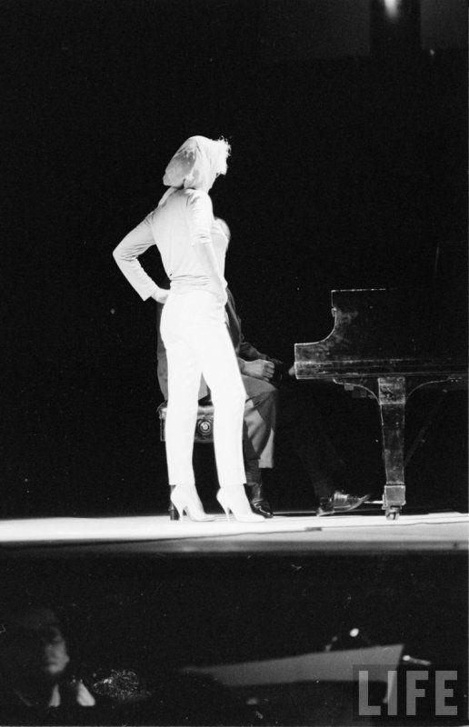 Marilyn at a rehearsal for the John F. Kennedy Birthday Gala, May 18th 1962