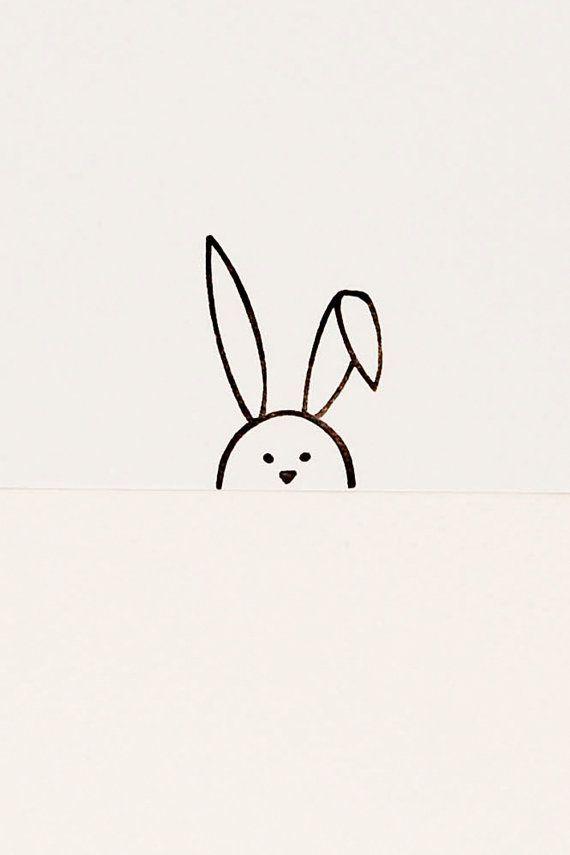 Floppy bunny stamp, Easter gift, bunny birthday gift, bunny kids gift, minimalist stamp, rabbit stamp, peekaboo stamp, rabbit lover gift  – Kreatives mit der Hand | CREATIVE ME