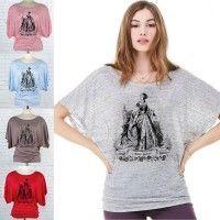 Queen Elizabeth I's mother, Anne Boleyn, on a Flowy Dolman T-shirt (The Anne Boleyn Files).