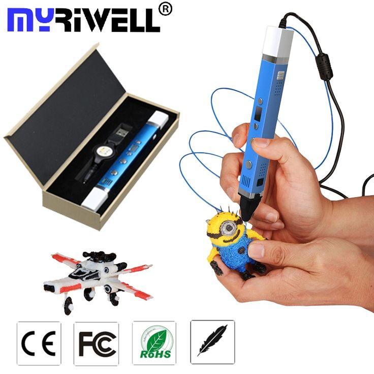 49.60$  Watch now  - 3D Pen USB Plug 5V 2A Creative Caneta Pen 3D graffiti pen Digital 4 speed regulation Best Gift For Kids 3nd 3d printing pen hot