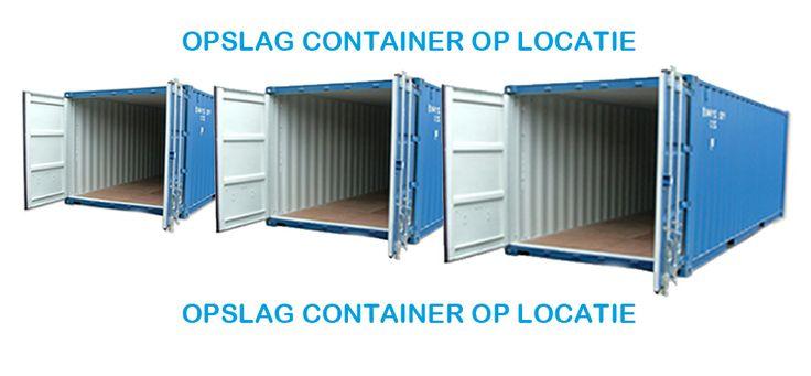 Ook op locatie plaatsen wij voor u een opslag container.