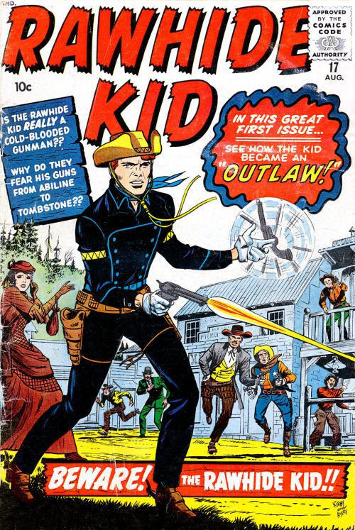 The Rawhide Kid #17, August 1960, cover by Jack Kirby, Dick Ayers, and Stan Goldberg