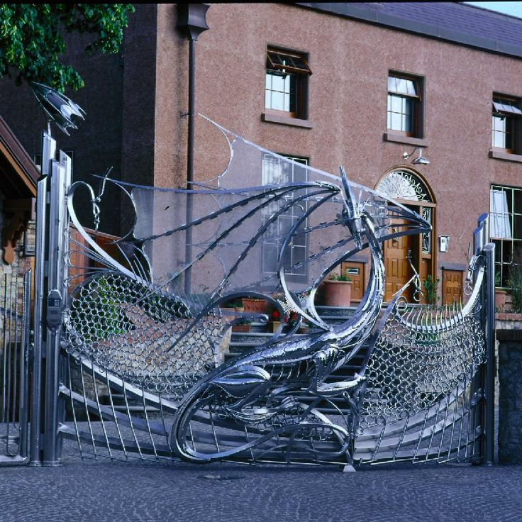 Dragon Gate of Harlech House, Dublin.Doors, Dragons Gates, Harlech House, Dublin Ireland, Things I Want, Driveways Gates, Front Gates, House Wa, Stainless Steel