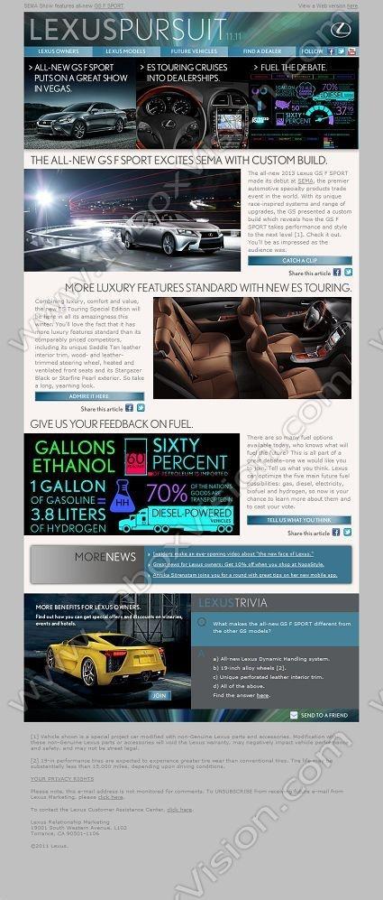 Best Car Newsletter Images On   Website Designs