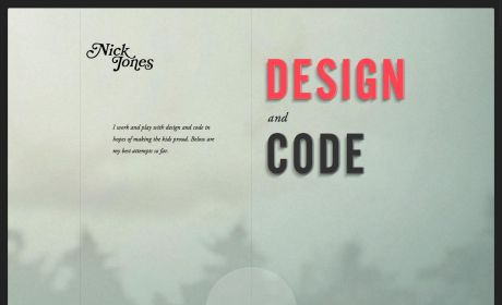 Very nice sites | Best web design 2013 | Beautiful websites 2013.  Epic parallax/responsive portfolio site by Nick Jones.
