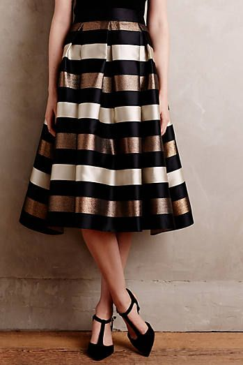 Wide waistband is always more flattering. ~Encore Midi Skirt