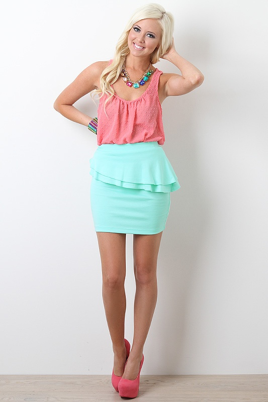 : Spring Clothing, Colors Combos, Candy Colors, Cotton Candy, Dreams Closet, Mint Skirts, Woman Skirts Outfits, Pastel Colors, Colors Together