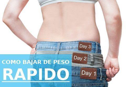 Cómo bajar de peso rápido, ¡apunta estos consejos!