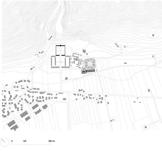 Extension of Gubbio Cemetery,Site Plan