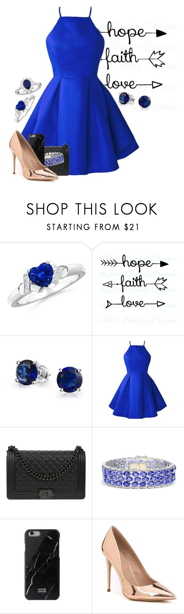 """Little Blue Dress"" by kaileewhaley13 ❤ liked on Polyvore featuring Bling Jewelry, Chanel, Effy Jewelry, ALDO and Allurez"