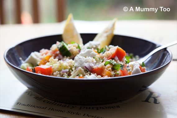 Herbed Bulgar Wheat with Crunchy Pepper and Goat's Cheese (a Hello Fresh recipe)