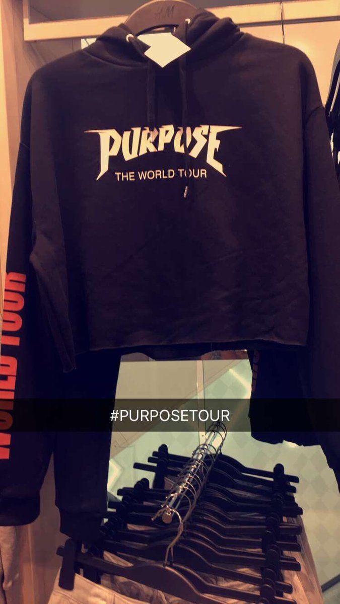 Justin Bieber Purpose Tour Cropped hoodie at H&M