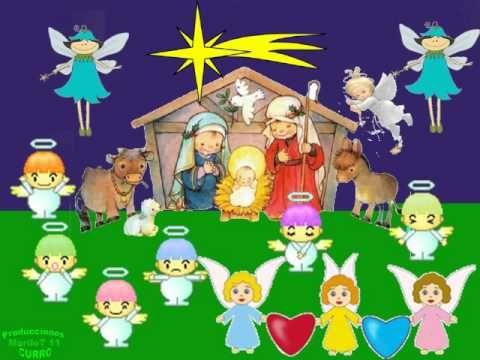 Canción de navidad - Villancico  Los colores vamos al portal.
