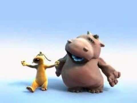 Famosas animaciones de Pixar. Divertido video de un hipopotamo que canta con un perro gracioso!!! es un gran video