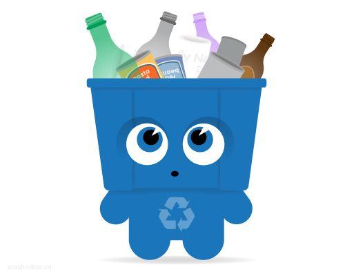 Resultado de imagen para bote de reciclaje animado