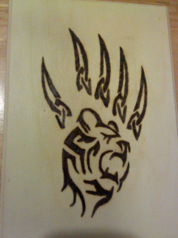 tribal bear pyrography woodburn crafts tribal bear