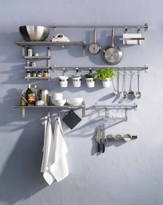 Ikea grundtal hanging pot rack for Accesorios cocina ikea