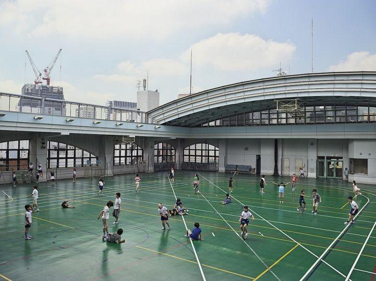 Физкультура в начальной школе Шохей, Токио.
