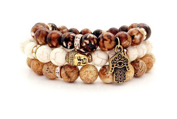 Hey, I found this really awesome Etsy listing at https://www.etsy.com/listing/163105768/buddha-bracelet-set-spiritual-jewelry