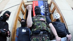 "Pro-Russian protesters have seized a local state TV station in the city of Donetsk in eastern Ukraine, demanding that Russian TV channels be broadcast there. They also want to launch a ""Donetsk People's Republic"" TV channel. According to media reports, technical work is currently being done at the TV station to restart the transmission of […]"