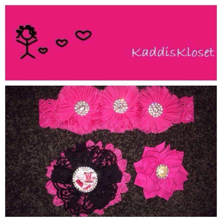 Hand made by Kaddis Kloset 3 x Elegant Paris inspired hair accessories.