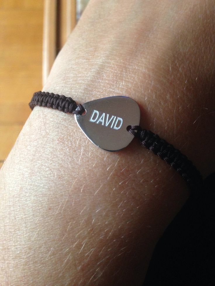 Brazalet PLETTRO guitar pick of silver personalized
