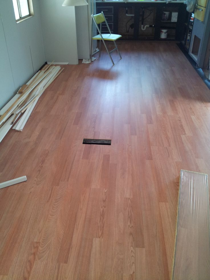 Flooring in living and kitchen area