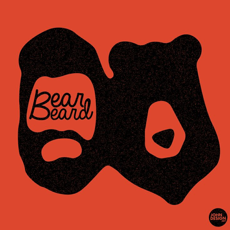 "Logo pour la marque ""BEARBEARD"". #Illustrator #adobe #dessin #bear #beard #logo  By JohnDesign.Net www.johndesign.net"