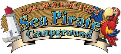 Sea Pirate Campground, near LBI in NJ. Nice little campground they have a pool, kid activities, crabbing on site and it's close to LBI. The  cabins by the lake are the best spots.