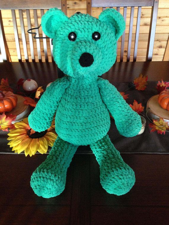 Crochet Stuffed Teddy Bear Pattern Big Soft Bernat