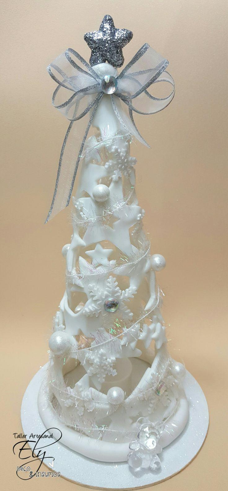 arbolito de navidad en porcelana fria