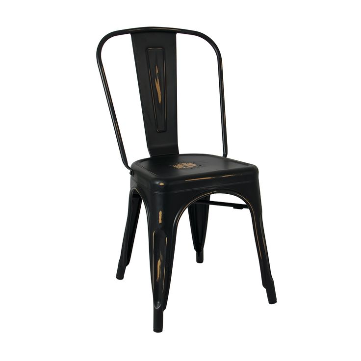 Antique Tolix chair in black