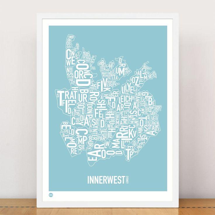 Inner West type print
