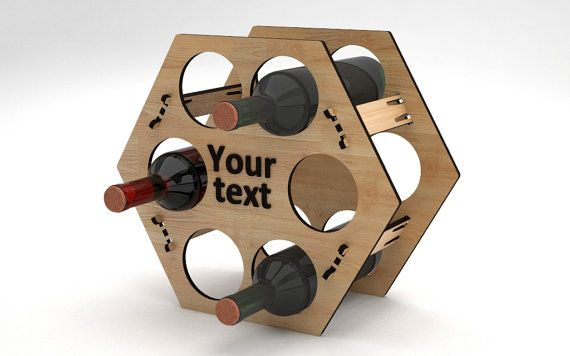 Personalized Wine Rack 117 by VigoDesigns on Etsy