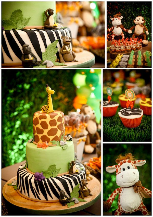 I might not be able to make the little animals but I think I can pull off the animal prints on the cake itself :)