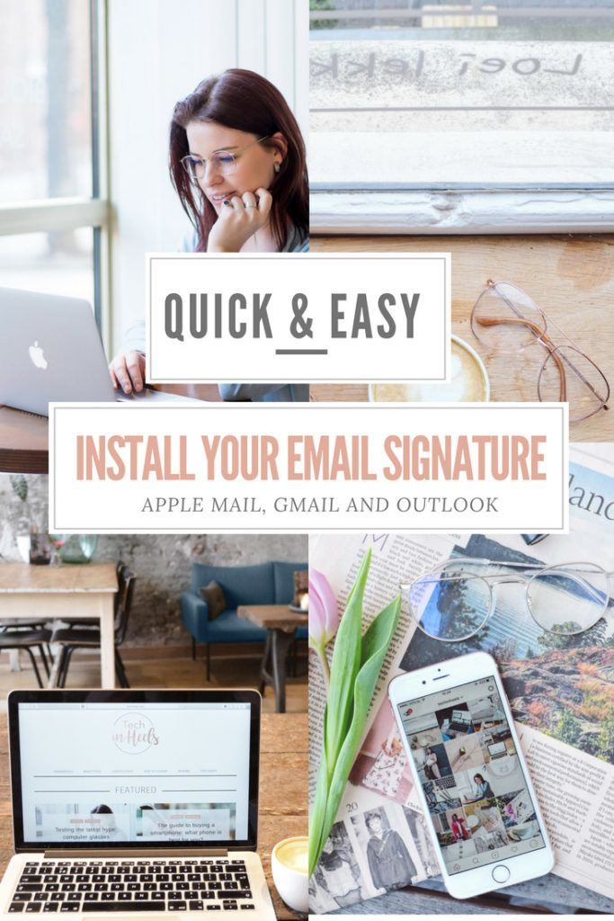After last week's tutorial, I received a lot of questions about installing the email signature. So, here it is! The tutorial on how to install your email signature in Apple Mail, Gmail and Outlook (hotmail).