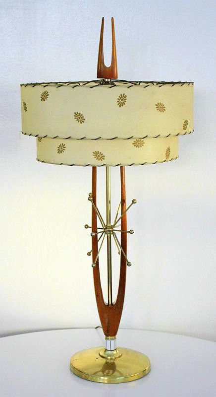 Atomic Mid Century Lamp with your morning danish! Love the combo!