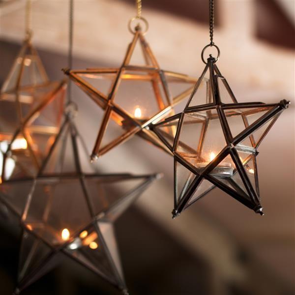 Estrellas de Vidrio Latón Vintage