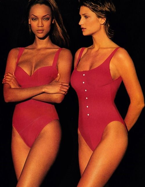 a-state-of-bliss:  Elle US June 1993 - Tyra Banks & Manon Von Gerkan by Gilles Bensimon