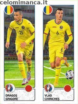 UEFA EURO 2016™ Official Sticker Album: Fronte Figurina n. 45 Dragoș Grigore - Vlad Chiricheș