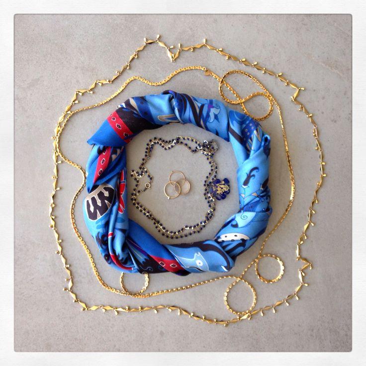 """Folklore"" silk scarf by Grecian Chic!"