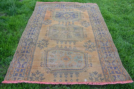 Floor Rugs Antique Free Shipping 136 x 202cm Faded Oushak Rug 4.4' x 6.6' Turkish Carpet Paled Rug Bohemian Rug Handknotted Rug Code 582