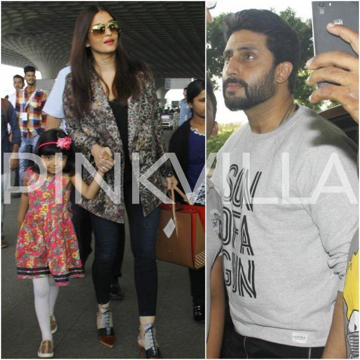 Aiport Diaries: Aishwarya walks hand-in-hand with Aaradhya, Abhishek clicks selfies with his fans!   PINKVILLA