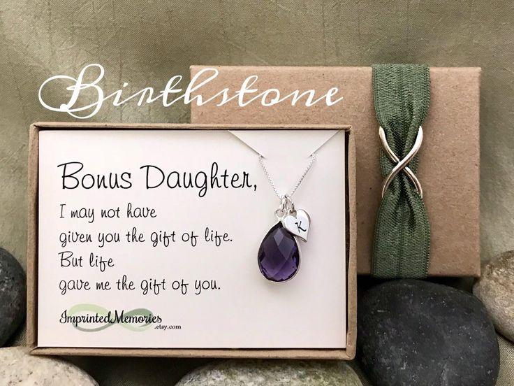 Bonus daughter gift birthstone necklace gift for