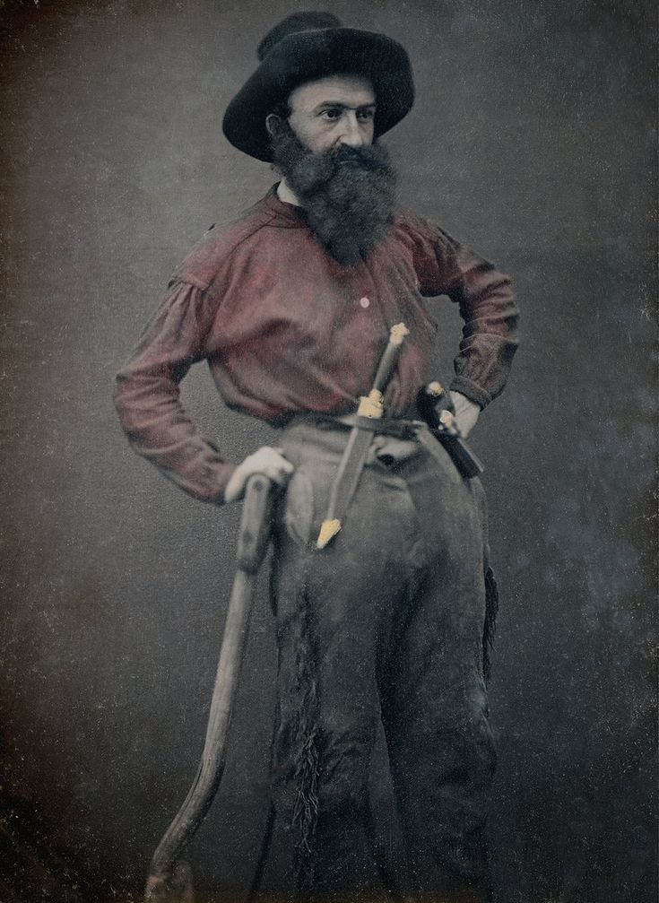 A collection of images showcases the intensity of the Gold Rush in the 19th century, around the same time the daguerreotype enjoyed a similar surge in popularity.   Portrait of William McKnight, California. Circa 1851.  Via Canadian Photography Institute