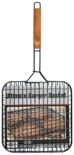 Mr. Bar-B-Q Deluxe Non-Stick Burger Basket by MR. BAR-B-Q. $8.45. The Easy Way to Cook Burgers. Patented Finger Grip Wood Handle With Rosewood Stain. Hold Up To 4 Hamburgers. Deluxe Black Non Stick Burger Basket. Save 35%!