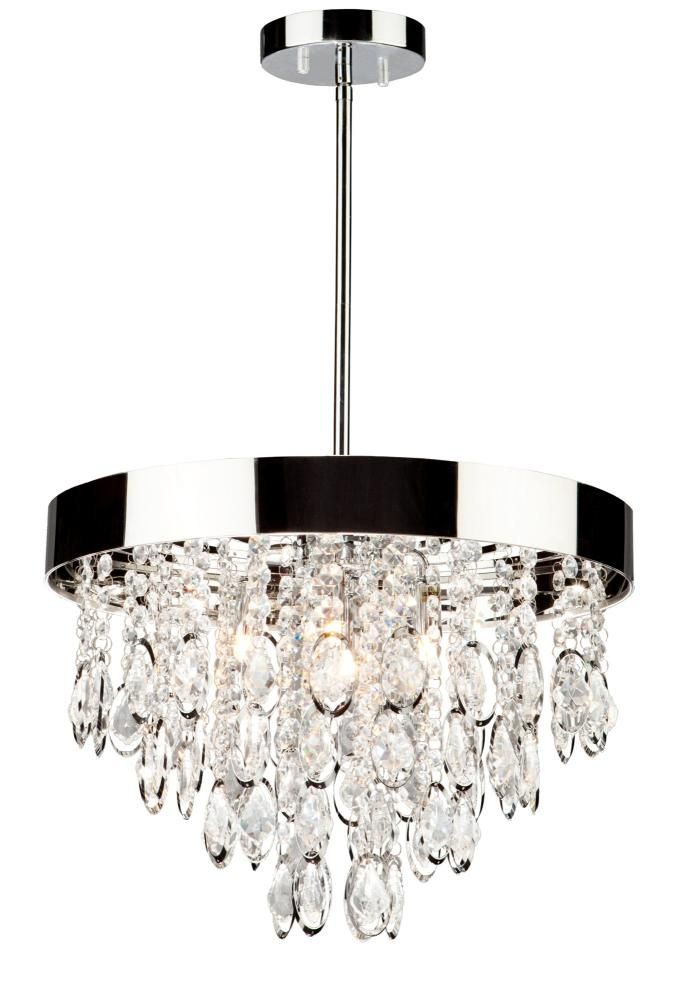 Elegante chandelier the chrome plated frame of the elegante collection suspends sparkling oval shaped jewels encased in oval laser cut chrome metal