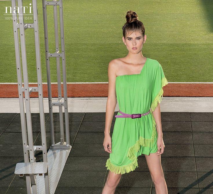 EMERALD GREEN SUMMERDRESS wrap style top fashion by NATIPUREIDEA