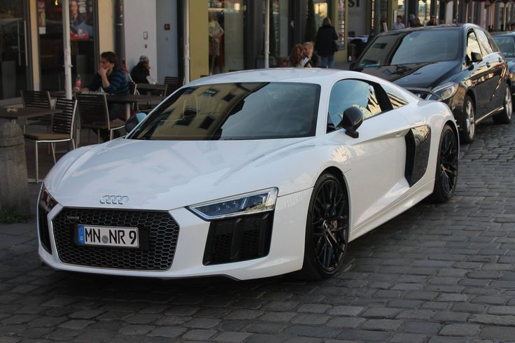 [Audi R8 V10 Plus] Black/White in Günzburg Germany #carspotting #cars #car #carporn #supercar #carspotter #supercars